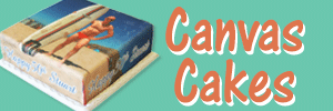 canvas cakes button