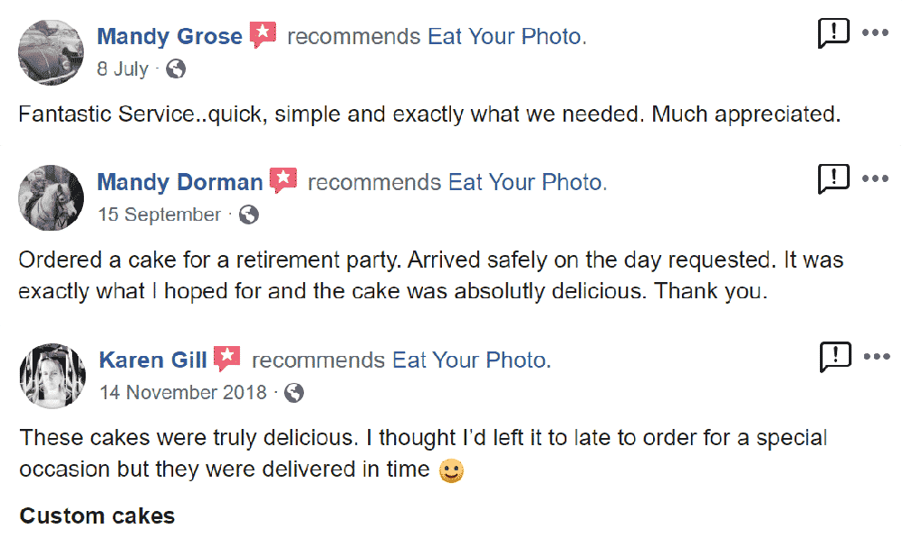 EatYourPhoto Facebook Reviews