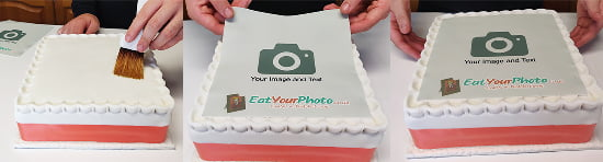 Steps to Apply Edible Photo