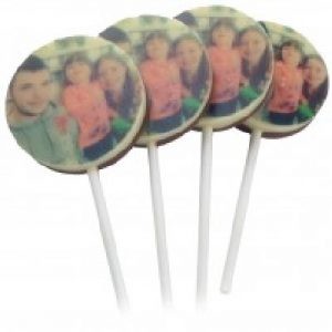 Chocolate Photo Lollipops
