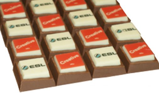 branded printed chocolates