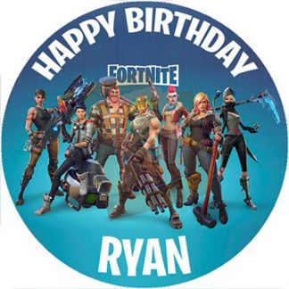fornite circle cake topper