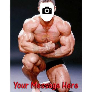 muscle man face in hole