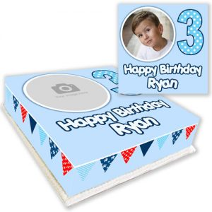 Bunting Cake with Photo