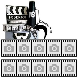Film Reel Custom Edible Ribbon
