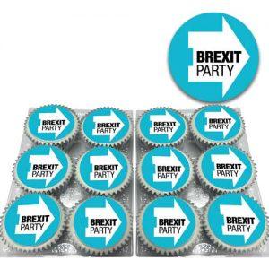 Brexit Party Logo Cupcakes