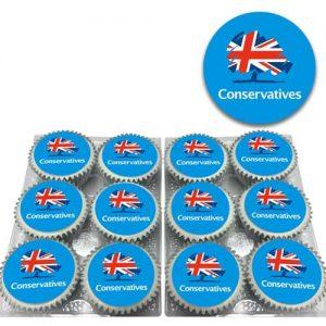 Conservatives Logo Cupcakes
