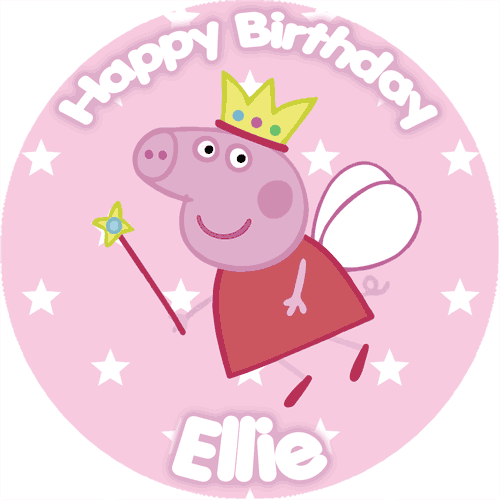 peppa pig fairy cake topper image