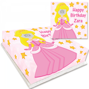 Princess Face Photo Cake